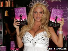 Katie Price with her latest book