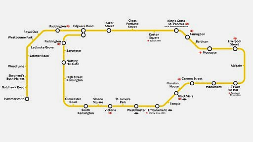 Map of how the Circle Line will look like