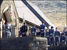 ATC cadets at St Barnabas Church, Gilfach Goch