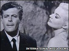 Anita Ekberg and Marcello Mastroianni in La Dolce Vita, pic International Media Films