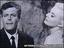 Anita Ekberg and Marcello Mastroianni in La Dolce Vita, pic International Media Films