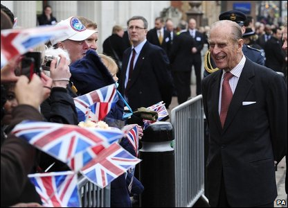 The Duke of Edinburgh during his walkabout