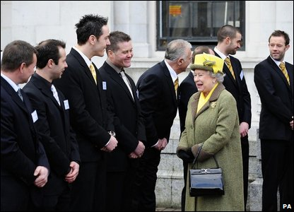 The Queen meets members of Hull City FC