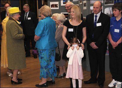 The Queen meets flood victims