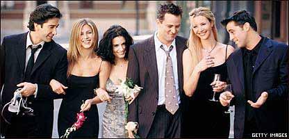 """Los protagonistas de la serie televisiva """"Friends"""""""
