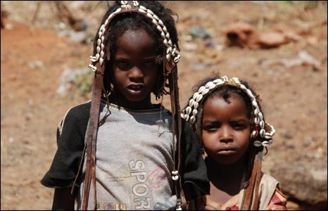 Young Borana children