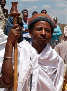 Borana tribesman with a staff
