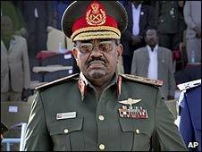 Sudanese President Omar al-Bashir in Khartoum (04/03/2009)