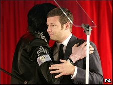 Michael Jackson and Dermot O'Leary