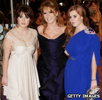 Princess Eugene, Sarah Ferguson and Princess Beatrice