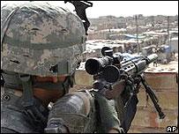 Американский солдат в Багдаде
