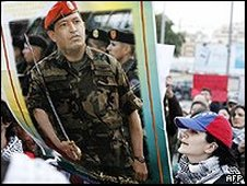 Hugo Chavez supporters in Lebanon