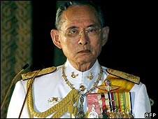 Thai King Bhumibol Adulyadej (file image)