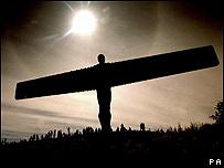 El ángel de Gateshead, en el Reino Unido