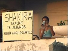 Villager says thanks to Shakira