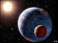 Imagen creada por computador de un nuevo planeta