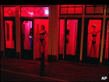 A red light district