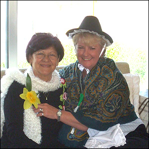 Sue Steel and Cypriot friend Haava
