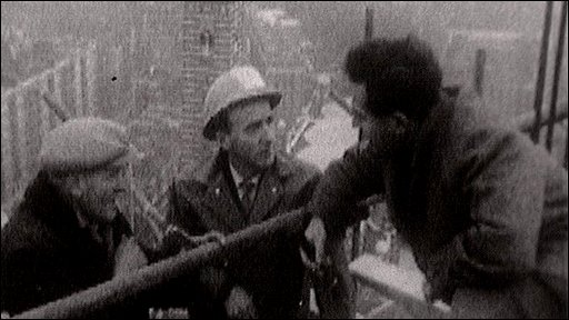 Panorama reporter talks to Irish builders 1961
