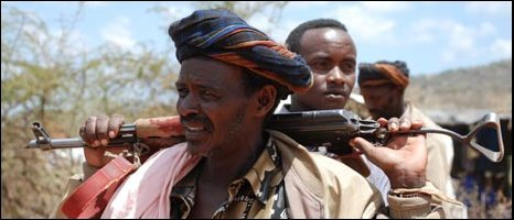 Borana tribesman holding a gun