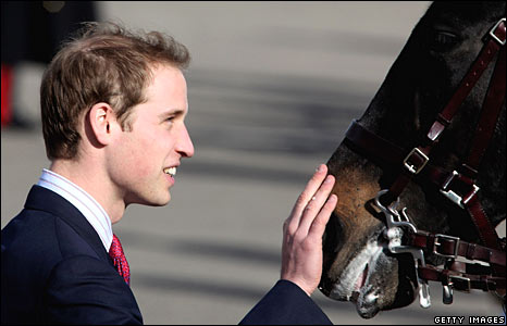 Prince William and a police horse