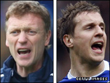 David Moyes and Phil Jagielka