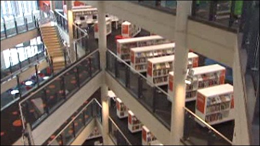 Inside the new Cardiff central library