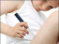 Niño con diabetes