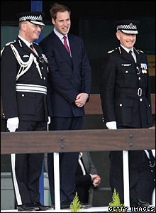 Prince William with senior Metropolitan Police officers