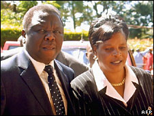 Morgan and Susan Tsvangirai in Harare, March 2006