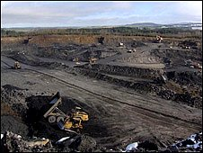 Opencast mining at Ponieil, Lanarkshire