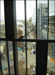 View over the Hayes from the library