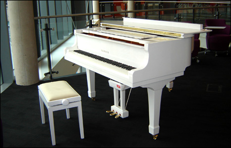 Cardiff library's piano