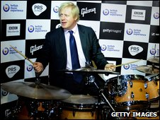 Boris Johnson at the British Music Experience