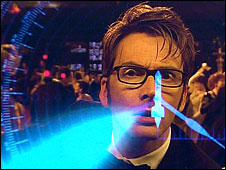 David Tennant as the Doctor in Voyage of the Damned