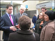 Nick Clegg meets ex-Woolworths workers