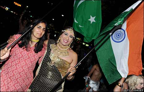 A Pakistani lesbian (left) and an Indian transvestite in Sydney