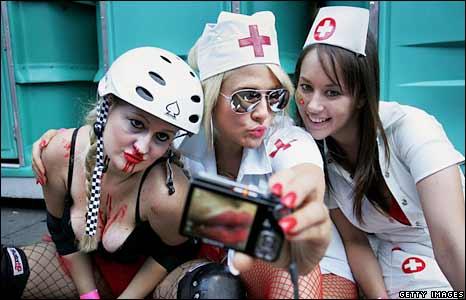 Participants in nurse costumes in Sydney