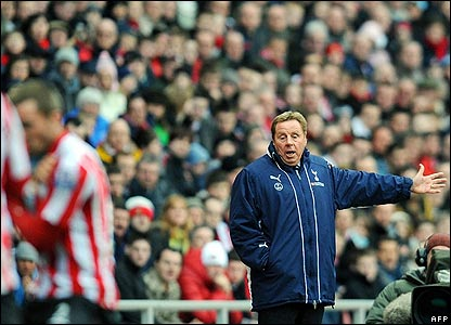 Redknapp shouts instructions