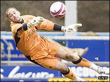 Falkirk goalkeeper Dani Mallo