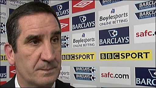 Sunderland boss Ricky Sbragia