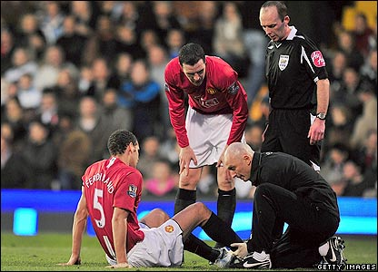 Ferdinand gets treatment