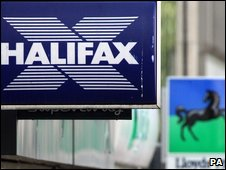 Halifax and Lloyds signs