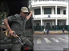 File pic of soldier in Antananarivo