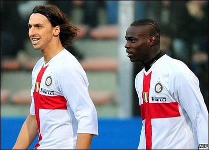 Zlatan Ibrahimovic and Mario Balotelli