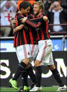 Pato, Filippo Inzaghi and David Beckham