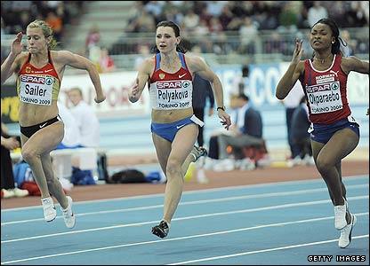 Women's 60m final race