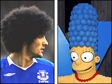 Marouane Fellaini and Marge Simpson