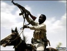 File pic of Sudanese Janjaweed fighter