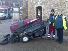 Street cleaners out on patrol